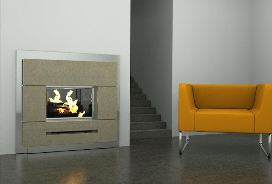 A concrete living area designed for luxury