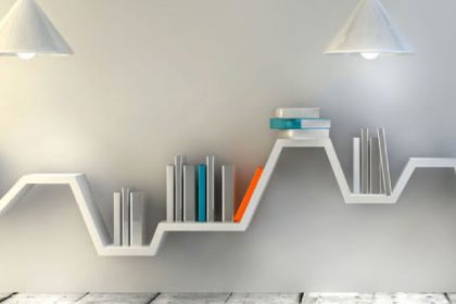 A very unusual concrete shelve in a stunning home