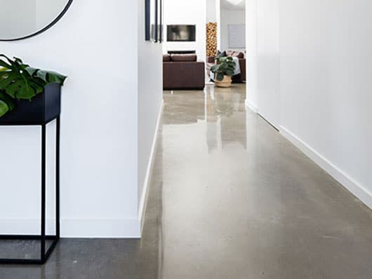 home with polished concrete floor